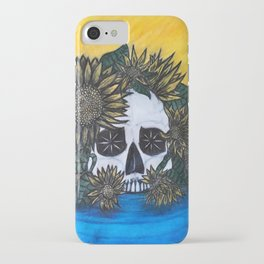 Skull and Sunflowers iPhone Case