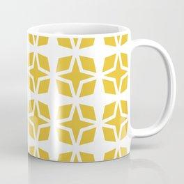 Mid Century Modern Star Pattern Mustard Yellow 551 Coffee Mug