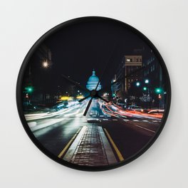 Traffic On North Capitol Wall Clock