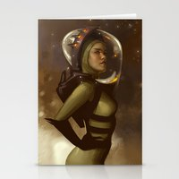 spaceman Stationery Cards featuring Spaceman by Kelly Perry