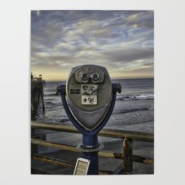 Optical Binoculars at Oceanside Pier Poster