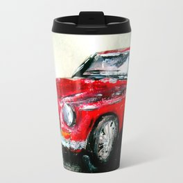 MG 1969 Classic Car Acrylics On Paper Travel Mug