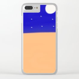A Clear Desert Night Clear iPhone Case