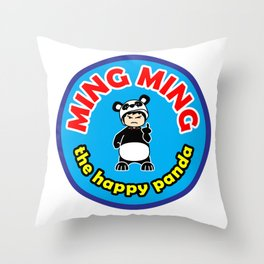 Ming Ming The Happy Panda - Color Throw Pillow