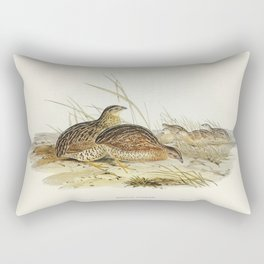 Australian Partridge (Synoicus Australis) illustrated by Elizabeth Gould (1804-1841) for John Goulds Rectangular Pillow