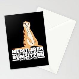 Meerkat In Funny Meditation Stationery Cards