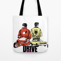 akira Tote Bags featuring Drive / Akira  by KScully