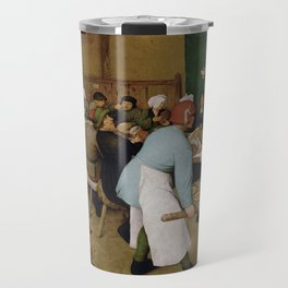 Peasant Wedding by Pieter Bruegel the Elder Travel Mug