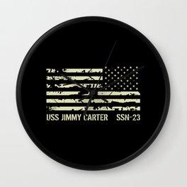 USS Jimmy Carter Wall Clock