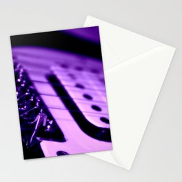 Guitar in Purple fine art photography Stationery Cards