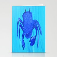 crab Stationery Cards featuring Crab by Lissasdesigns