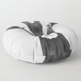 Goat - Black & White Floor Pillow