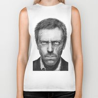 house md Biker Tanks featuring House MD by Olechka