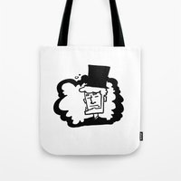 lincoln Tote Bags featuring Lincoln by artistalyway