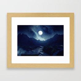 Walk to the Moon Framed Art Print