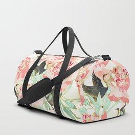 Floral Cranes Duffle Bag
