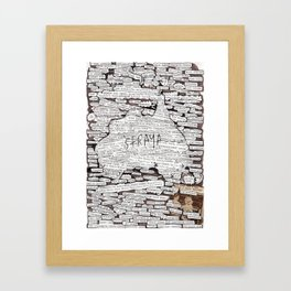 'Straya. Framed Art Print