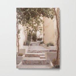 Mediterranean Village Street Summer Travel Metal Print