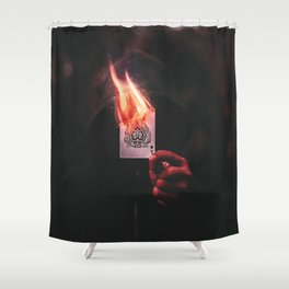 Fire Aces Shower Curtain