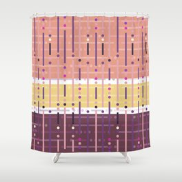 Retro Purple Shower Curtain