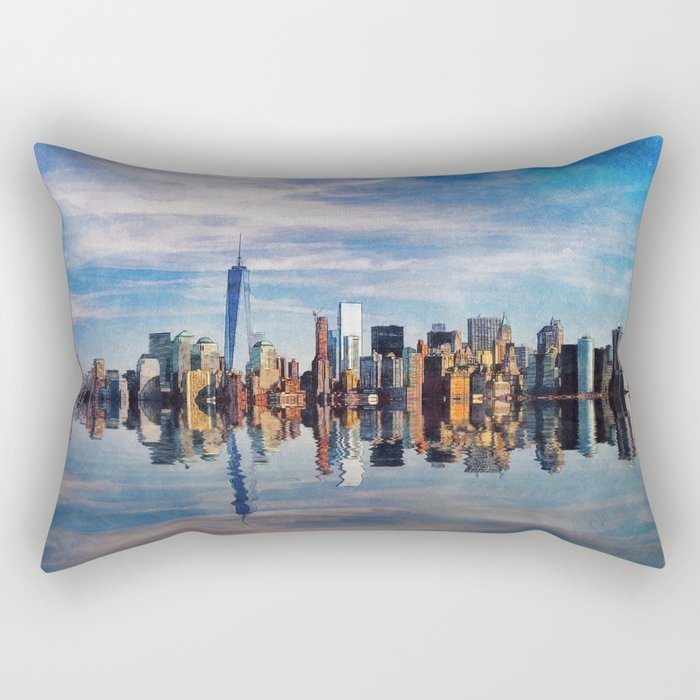 New York Reflections Rectangular Pillow