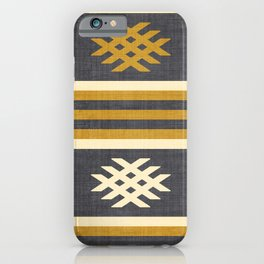 Otto in Charcoal and Gold iPhone Case