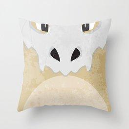 Minimalist Cubone Throw Pillow