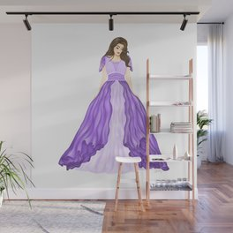 The Purple Dress Wall Mural