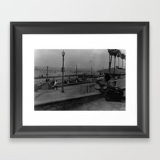 A Lone Traveller  Framed Art Print