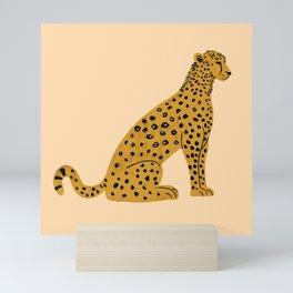 Sitting Leopard Mini Art Print