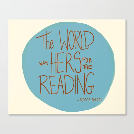 The World was Hers for the Reading Canvas Print