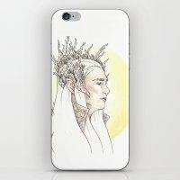 thranduil iPhone & iPod Skins featuring Thranduil by Mary Ledford