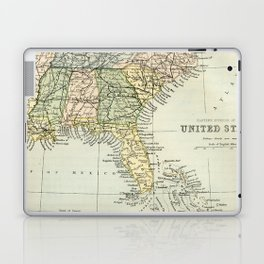 Vintage Map of the South Of The United States Of America Laptop & iPad Skin