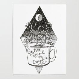 Campfire Mug Poster