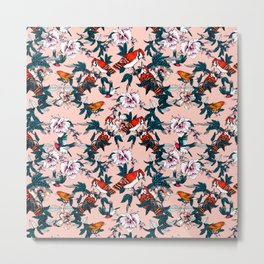 Flowery garden of birds II Metal Print