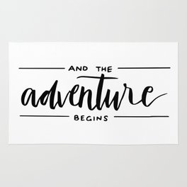 Ans the adventure begins Rug