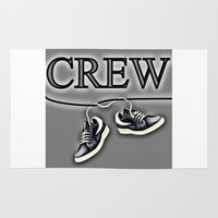 animal crew Area & Throw Rugs featuring Crew by Cs025