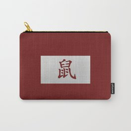 Chinese zodiac sign Rat red Carry-All Pouch