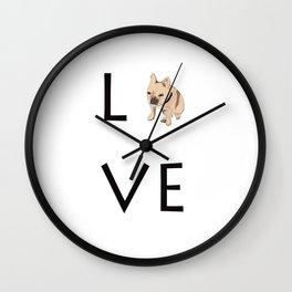 French Bulldog Love Print Wall Clock