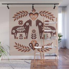 Scandinavian Folk Art II Wall Mural