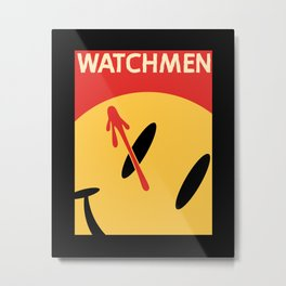 Who Watches Who? Metal Print