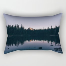 Dark No Name Lake Rectangular Pillow
