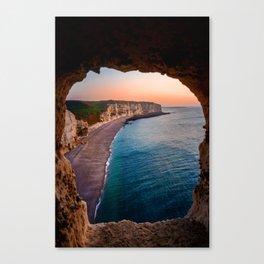 Tropical Sea Cave Canvas Print
