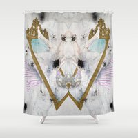 glass Shower Curtains featuring Looking-Glass by SEVENTRAPS