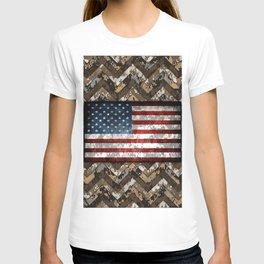 Desert Tan Patriotic Chevrons Digital Camo T-shirt