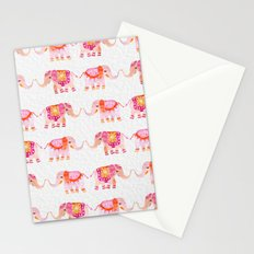 HAPPY ELEPHANTS - WATERCOLOR Stationery Cards
