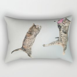Les chats qui jouent! Rectangular Pillow