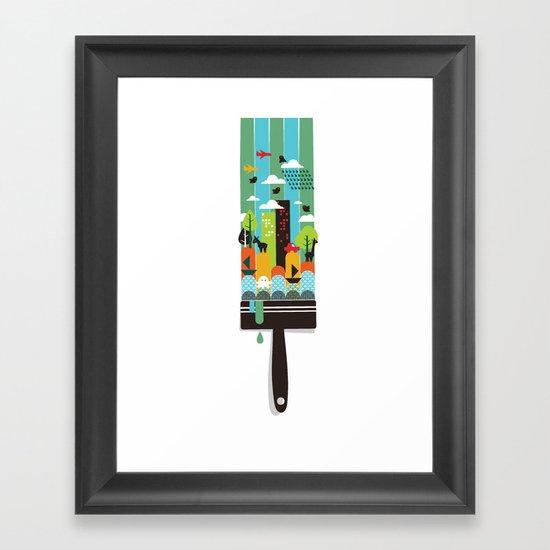Paint your world Framed Art Print