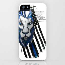 Bold as the Lion iPhone Case