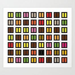 windows at night Art Print